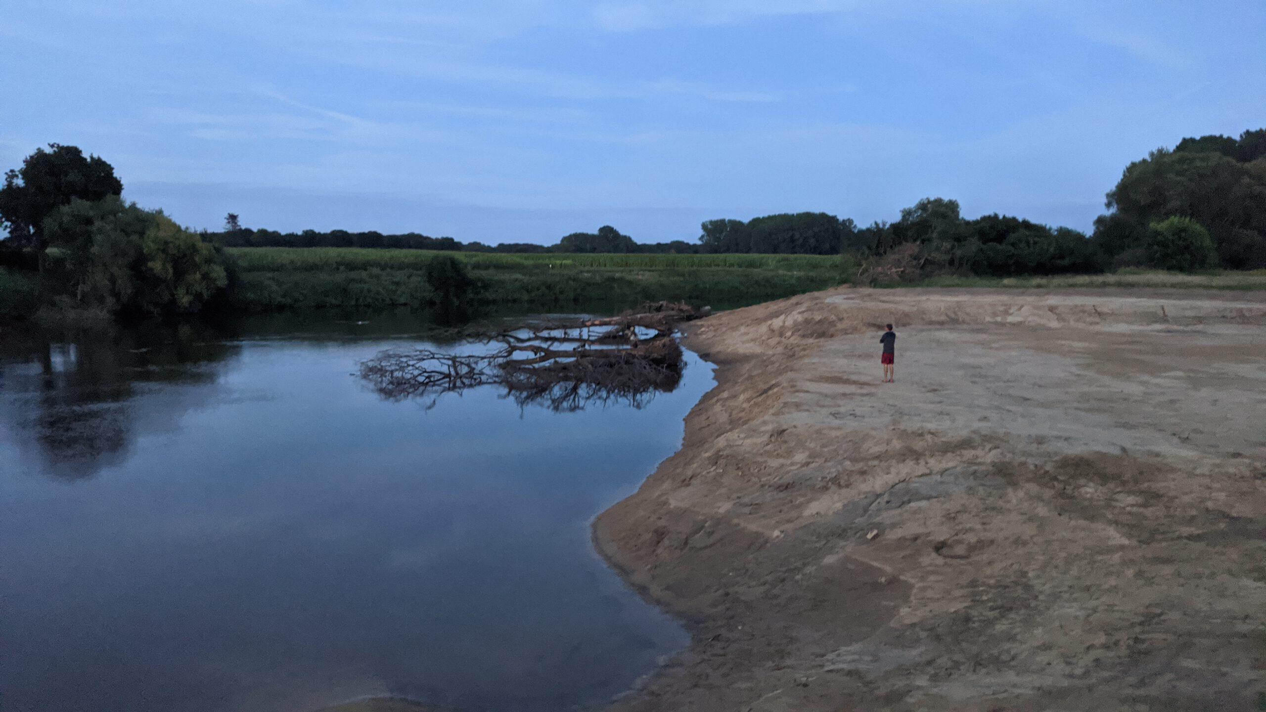 Große Sandmassen wurden bewegt