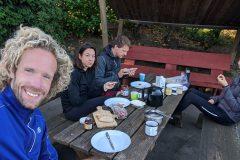 Frühstück vor der Weiterfahrt nach Emsdetten