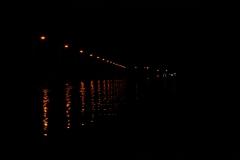 Der Kanal bei Nacht.